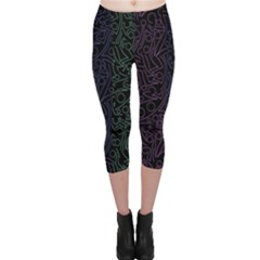 Colorful elegant pattern Capri Leggings
