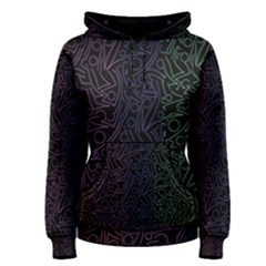 Colorful elegant pattern Women s Pullover Hoodie