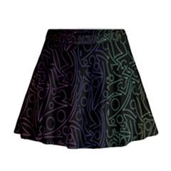Colorful elegant pattern Mini Flare Skirt
