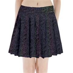 Colorful elegant pattern Pleated Mini Skirt