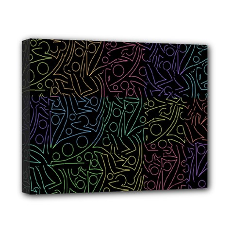 Colorful pattern Canvas 10  x 8