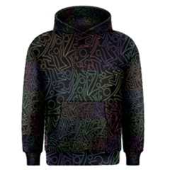 Colorful pattern Men s Pullover Hoodie