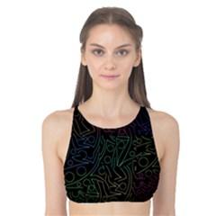 Colorful pattern Tank Bikini Top
