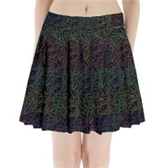 Colorful pattern Pleated Mini Skirt