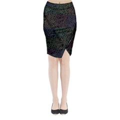 Colorful pattern Midi Wrap Pencil Skirt