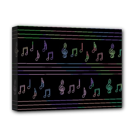 Music pattern Deluxe Canvas 16  x 12