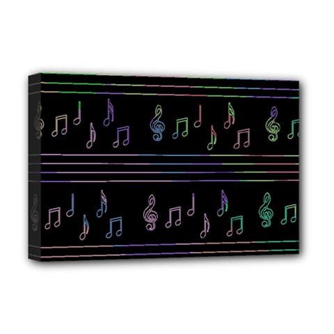 Music pattern Deluxe Canvas 18  x 12