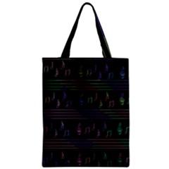 Music pattern Zipper Classic Tote Bag