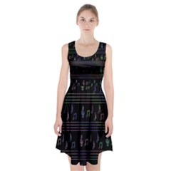 Music pattern Racerback Midi Dress