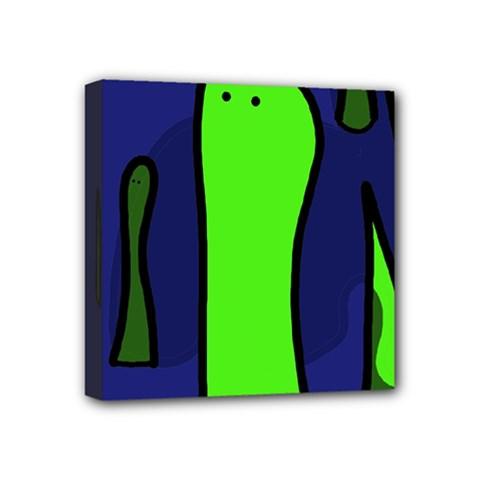 Green snakes Mini Canvas 4  x 4