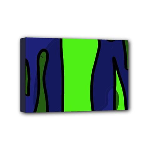 Green snakes Mini Canvas 6  x 4