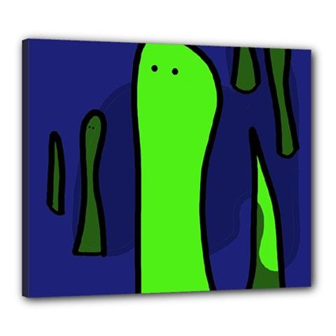 Green snakes Canvas 24  x 20