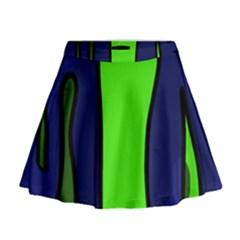 Green snakes Mini Flare Skirt