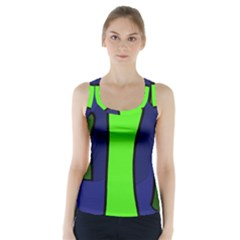 Green snakes Racer Back Sports Top