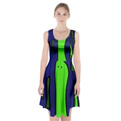 Green snakes Racerback Midi Dress