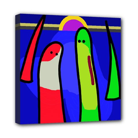 Colorful snakes Mini Canvas 8  x 8