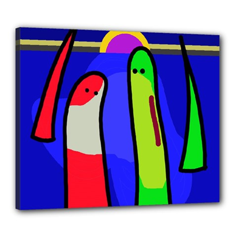 Colorful snakes Canvas 24  x 20