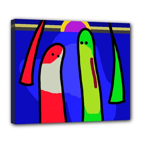 Colorful snakes Deluxe Canvas 24  x 20