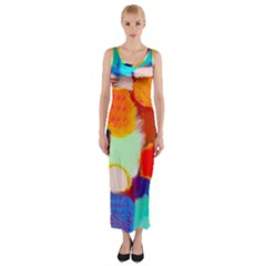 Peace2 Fitted Maxi Dress