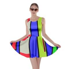 Colorful snakes Skater Dress