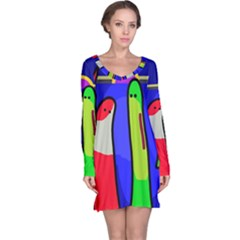Colorful snakes Long Sleeve Nightdress
