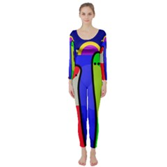 Colorful snakes Long Sleeve Catsuit