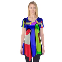 Colorful snakes Short Sleeve Tunic
