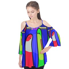 Colorful Snakes Flutter Tees