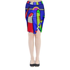 Colorful snakes Midi Wrap Pencil Skirt