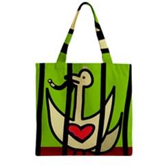 Duck Zipper Grocery Tote Bag