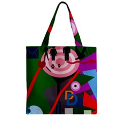 Party Zipper Grocery Tote Bag