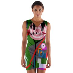 Party Wrap Front Bodycon Dress