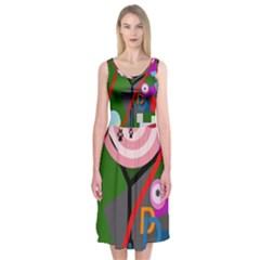 Party Midi Sleeveless Dress