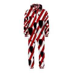 Black and red harts Hooded Jumpsuit (Kids)