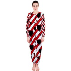 Black and red harts OnePiece Jumpsuit (Ladies)