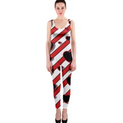 Black and red harts OnePiece Catsuit