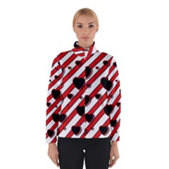 Black And Red Harts Winterwear