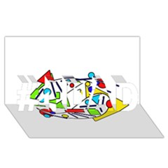 Catch me #1 DAD 3D Greeting Card (8x4)