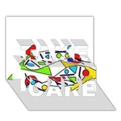 Catch me TAKE CARE 3D Greeting Card (7x5)