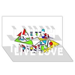 Catch me Laugh Live Love 3D Greeting Card (8x4)