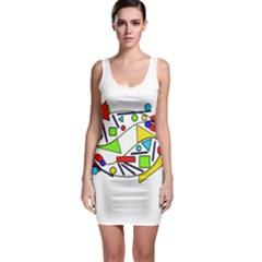 Catch me Sleeveless Bodycon Dress
