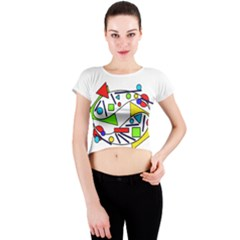 Catch me Crew Neck Crop Top
