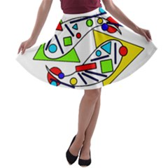 Catch me A-line Skater Skirt