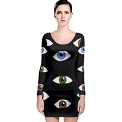 Look at me Long Sleeve Bodycon Dress
