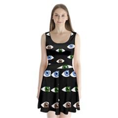 Look at me Split Back Mini Dress