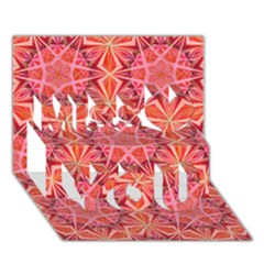 12 pointed star and the number of completion Miss You 3D Greeting Card (7x5)