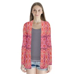 12 pointed star and the number of completion Drape Collar Cardigan