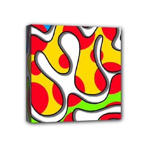 Colorful graffiti Mini Canvas 4  x 4
