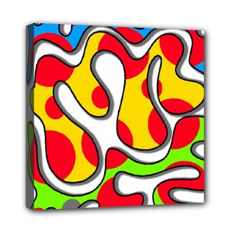 Colorful graffiti Mini Canvas 8  x 8
