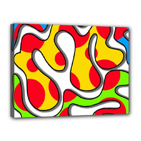 Colorful graffiti Canvas 16  x 12